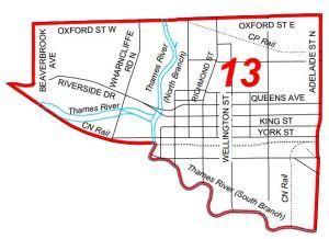 Ward 13 map